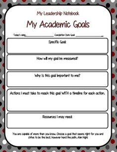 LEADERSHIP AND DATA NOTEBOOK WITH GRAPHS, CONFERENCES, GOALS AND MORE - TeachersPayTeachers.com