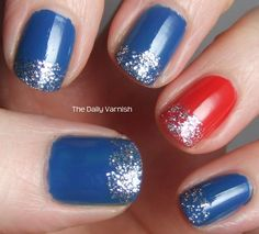 patriotic nails - 13 Patriotic of July Nails to Rock All Weekend July 4th Nails Designs, 4th Of July Nails, Cute Nail Designs, Patriotic Nails, Nails For Kids, Color Street Nails, Accent Nails, Blue Nails, Pastel Nails