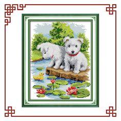 NKF A small white dog cross stitch patterns