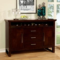 Garrison Espresso Finish Server Buffet Cabinet