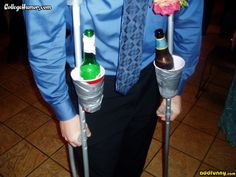 Using Crutches joke | The crutches are for getting home later. random