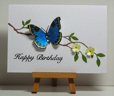 Cathys Card Spot: Turquoise butterfly