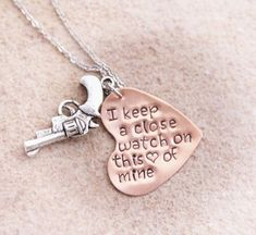 Hey, I found this really awesome Etsy listing at https://www.etsy.com/listing/229609995/hand-stamped-jewelry-rustic-pistol