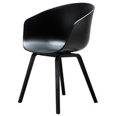 Hee Wellig designed the About a Chair 22 Armchair for the Danish design label HAY. Thanks to its reduced design the About a Chair armchair harmoniously fits in Chaise Hay, Hay Chair, Desk Chair, Types Of Furniture, Cool Furniture, Furniture Design, Lacquer Furniture, Furniture Chairs, Black Furniture