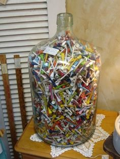 i am doing this! i have housed thousands of tees over the years....now i can display them in a CUTE way!