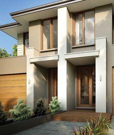 New Ideas exterior wood cladding facades design Exterior Wall Design, Exterior Wall Cladding, Exterior Stairs, Wood Cladding, Exterior Paint Colors For House, Exterior Siding, Exterior Remodel, Facade Design, Cladding Ideas