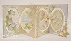 The Dining Room Drawers: Oval Accordion Album Soft Pastel Birthday Card
