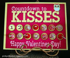 Valentines Countdown how to + printable