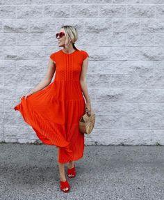 Lovely Jacey wears the Maje RYLINE dress