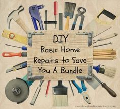 DIY - Home Repairs to Save You a Bundle- great tips on how to avoid calling in the pros and saving your budget! These simple ideas are things most adults cam accomplish to be frugal and save money!  sunshineandhurricanes.com