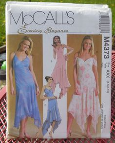 McCall's 4373  Evening Gowns or Prom Dresses  by Clutterina