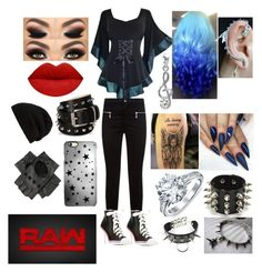 """""""What's Up Raw"""" by raven-ranger on Polyvore featuring J Brand, Moschino, Lauren Conrad, Barbara Bui, Bling Jewelry, Rianna Phillips, Black, Rick Owens and WWE"""