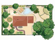 projekt ogrodu  Projekt ogrodu, terenów zielonych to przedstawienie wizji wycinka krajobrazu, który chcemy posiadać lub też architektura krajobrazu ma otaczać dom. Jest to przekazanie idei i wyobrażenia nowego otoczenia w którym mieszkańcy będą odczuwać spokój i zadowolenie. Projekty terenów zielonych zawierają pełną dokumentację (informacje) niezbędne do aranżacji ogrodu, parku lub terenu całej posesji.