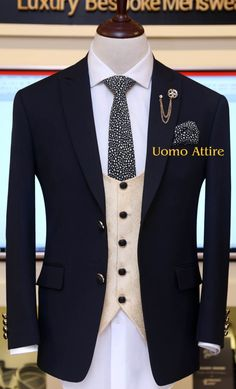 Get Customize mens suits for your special occasion, Slim fit gents suits with perfect fitting guranttee are available at Uomo Attire, We customize suits as per body shape with italian cut Dress Suits For Men, Mens Dress Outfits, Formal Men Outfit, Stylish Mens Outfits, Men Dress, African Wear Styles For Men, African Men Fashion, Black Suit Wedding, Wedding Wear