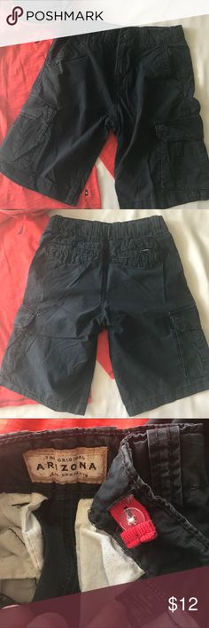 ARIZONA Cargo Shorts Navy Boys ARIZONA Cargo Shorts Navy Boys In pre-loved condition, no tears, stains, etc. some minor signs of wear - a TON of life left in these bad boys. Adjustable waist. Bottoms Shorts