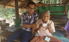 Frau Pliaw ist mit 109 Jahren die älteste Einwohnerin Krabis .Thailand.