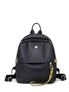 Shop Double Zipper Strap Decorated Backpack at ROMWE, discover more fashion styles online. Canvas Backpack, Backpack Bags, Fashion Backpack, Ladies Backpack, Mini Backpack, Laptop Backpack, Kanken Backpack, Black Backpack, Leather Backpack