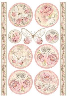Rice paper  21х29,7 cm. Decoupage.scrapbooking.STAMPERIA butterfly #STAMPERIA
