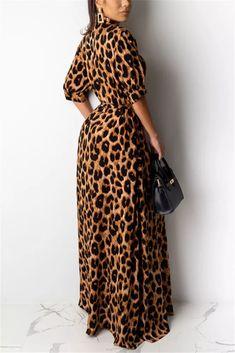 Hippie Chic, Leopard Fashion, Animal Print Fashion, Animal Prints, Plus Size Long Dresses, Animal Print Maxi Dresses, Perfect Prom Dress, Leopard Dress, Half Sleeves
