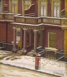 Charles Ginner Claverton Street: Snow in Pimlico 1939 Oil paint on canvas support: 406 x 356 mm Purchased 1941 Tate