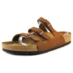 Birkenstock Women's Florida Nubuck with Soft Footbed Slides,Cocoa Nubuck with Soft Footbed,42 R EU * Check out this great image  - Strappy sandals