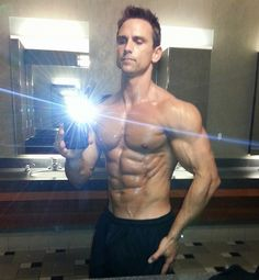 David Morin - bathroom selfie flash