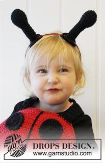 "Crochet DROPS lady bug with shoulder straps in ""Paris"". ~ DROPS Design"