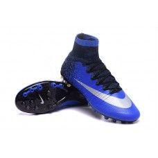 buy online f675a b7e87 Nike Mercurial Superfly CR7 Natural Diamond AG Profundo Royal Azul-Metallic  Plata-Racer Azul