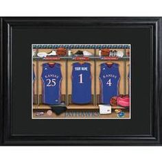 College Basketball Locker Room Print  Free Personalization Choose your favorite college basketball teams for your perfect locker room sign.  www.GiftsEngraved.net