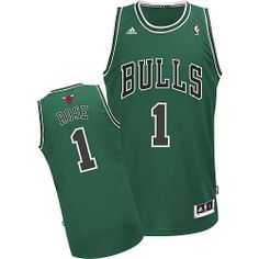 Derrick Rose jersey-Buy 100% official Adidas Derrick Rose Men's Swingman Green Jersey NBA Chicago Bulls #1 Free Shipping.