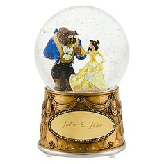 $49.50 Personalized Beauty and the Beast Snowglobe http://www.disneystore.com/beauty-and-the-beast-personalized-beauty-and-the-beast-snowglobe/mp/1238739/1000008/