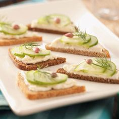 Cucumber Party Sandwiches Recipe | Taste of Home Recipes