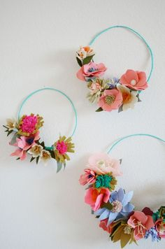 Felt flower making w
