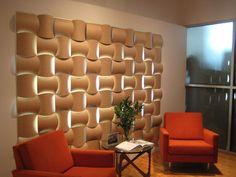 Wovin wall shown in lounge area...