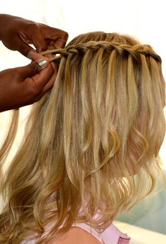 French braid with release, How to do a Waterfall Braid