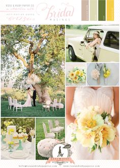 Leafy green and buttercup yellow inspiration board
