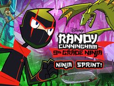 Randy Cnningham: Ninja Sprint Se trata de terremoto aquí, usted necesita para salvarse. Detenga el hechicero de romper nada.