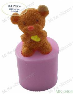3D Plush Teddy Bear Shape Silicone Mold Cake Tool Fondant Cake Decorating DIY Clay Tool  Teddy Soap Mold Factory Direct Sale