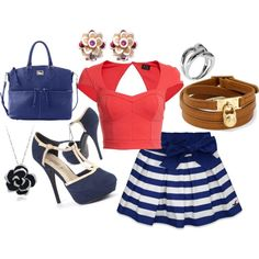 Sailor outfit by simplyfj on Polyvore Sailor Outfits, Shoe Bag, My Style, Polyvore, Beauty, Collection, Shopping, Shoes, Design