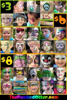face painting board - Google Search