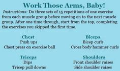 Upper body workout combinations