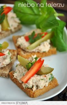 Polish Recipes, New Recipes, Dips, Appetisers, High Tea, Appetizer Recipes, Good Food, Food And Drink, Healthy Eating