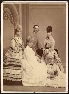 Frederik VIII, His wife Lovisa, and his three sisters: Alexandra (of Britain), Dagmar (Maria Feodorovna of Russia) and Thyra (of Cumberland).