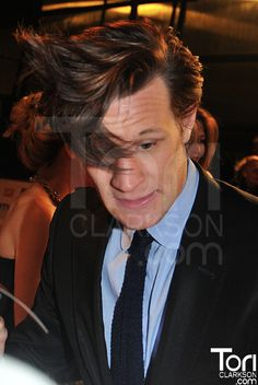 sorry about the watermark..but the hair.  A Doctor a day/Matt Smith <3