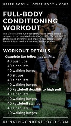A full-body workout that will target the whole body but specifically the legs and glutes. This workout takes minutes depending on your fitness level.& The post Full-Body Conditioning Workout appeared first on Shane Carlson Fitness. Fitness Workouts, Fitness Motivation, Exercise Motivation, At Home Workouts, Full Body Kettlebell Workout, Fitness Hacks, Full Body Workouts, Kettlebell Training, Kettlebell Challenge