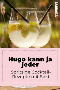 Cocktails with sparkling wine: These recipes are easy - and really pop! - We love it when it sparkles! But everyone can do Hugo or Aperol Spritz. With these simple recipes f - Festive Cocktails, Wine Cocktails, Christmas Cocktails, Summer Cocktails, Cocktail Recipes, Budget Freezer Meals, Cooking On A Budget, Easy Meals, Carbs In Alcohol