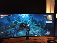 Anyone enjoying this game on a ultra-wide monitor? Ultimate Gaming Setup, The Witcher 3, Wild Hunt, Ps4, Monitor, Tv Series, Games, Gaming, Toys
