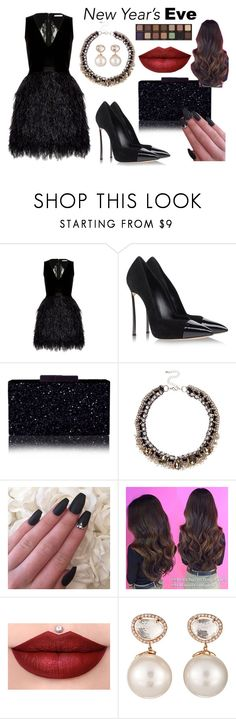 """""""Без названия #212"""" by avolorf ❤ liked on Polyvore featuring Alice + Olivia, Casadei, River Island, Samira 13, Anastasia Beverly Hills and nyestyle"""