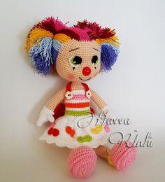 PATROON Miss Clown van HavvaDesigns op Etsy