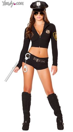 Officer Sexy Costume, Officer Hottie Cop Costume